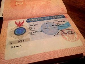 таиская виза на Бали
