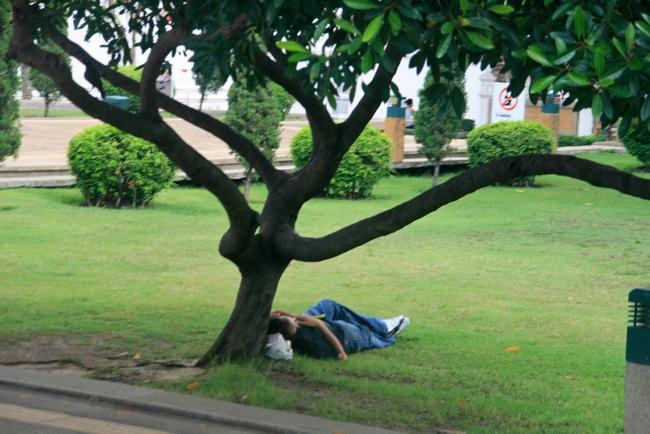 Как спят тайцы